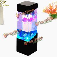 Мини-LED свет аквариум медузы аквариум домашний офис украшения