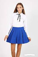 Молодежная женская юбка цвета  электрик