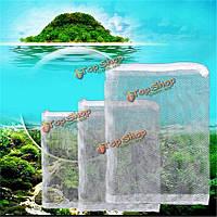 Аквариум фильтр плетение аквариума застегнул изоляции сети сетки рыбы фильтр бак универсальный фильтрующий материал б, фото 1