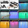 6 LED 12см водонепроницаемый аквариум бар свет лампы пузырь воздуха