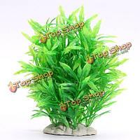 Аквариум пластиковые искусственная трава воды аквариума украшения украшение растения, фото 1