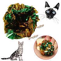 Домашняя кошка морщинка бумаги звука мяч игра игрушка шорох кошки котенок играть игрушку, фото 1