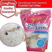 Longfeng кристалл кошачьих туалетов сильное поглощение дезодорация кошачьих туалетов песка