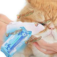 Soler кота собаки любимчика мокрой ткани салфетки безалкогольное дезинфицирующий дезинфекция вытирает чистки холить инструмент, фото 1