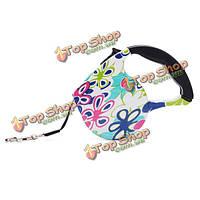 Выдвижной выдвижная цветов печати ходьбе приводят животных собаки кошки поводок, фото 1