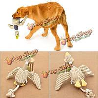 Смешно домашнее животное щенок кошки жуют принести скрипучие плюш звук играть игрушка нетоксична утка собаки