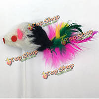 Большая присоска мышь забавная кошка игрушка стержень вертикальной мыши могут быть прикреплены к земле супер всасывания