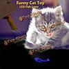 Животное забавный кот игрушка LED Лазерная указка с ярко рыбы анимации