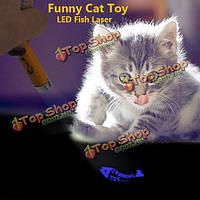 Животное забавный кот игрушка LED Лазерная указка с ярко рыбы анимации, фото 1