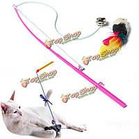 Домашняя кошка игрушка качает искусственного мыши крысы ограбить смешно играть игрушка
