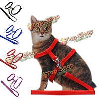 Кошка регулируемый ремень безопасности канат капроновый жгут привести поводок для котенка, фото 1