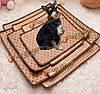 Домашнее животное собака кошка жаркое лето охлаждения кровать ротанг бамбук татами уютный сон коврик коврик многоразовое татами сиденье