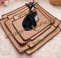 Домашнее животное собака кошка жаркое лето охлаждения кровать ротанг бамбук татами уютный сон коврик коврик многоразовое татами сиденье, фото 1