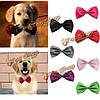 Регулируемая собака кошка галстук-бабочку галстук цветастый хлопок прикольный воротник