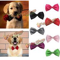 Регулируемая собака кошка галстук-бабочку галстук цветастый хлопок прикольный воротник, фото 1