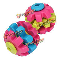 3 этаж красочные Pet собака скольжения шестерни молярной чистка зубов жевать игрушки