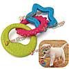 3в1 луна звезды солнце кота собаки любимчика резиновый стоматологическая прорезывание зубов жевать игрушки играть