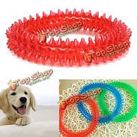 Резиновые собаки любимчика щенок здоровый стоматологическая чистка зубов деснами жевать кусать кольцо игрушка
