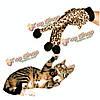 Любимая кошка плюшевые леопардовый перчатка котенок дразнилка игрушка