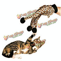 Любимая кошка плюшевые леопардовый перчатка котенок дразнилка игрушка, фото 1