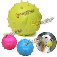 Собаки любимчика шарика tpr резиновые укус упорный чистка зубов жевать игрушки играть, фото 1