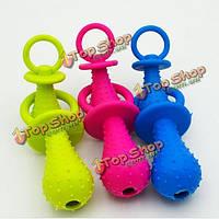 Новое поступление резины соску для игрушек любимчика кота собаки щенка жевать игрушки с звук колокола внутри