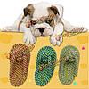 Домашнее животное хлопка веревку собака жевать зубы игрушка красочные тапочки щенка интерактивные игры