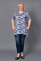 Модная женская туника увеличенных размеров