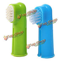 Животное устные стоматологической щетки мягкой зубной щетки пальцев