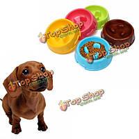 Щенок собака медленно едят фидер чаша анти дроссель блюдо pet собаки кошки питание питание чаши