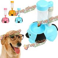Автоматическое устройство подачи бутылку воды висит пластиковая собаку питатель кошка воды блюдо чаша для питья диспенсер