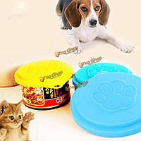Собака корм для кошек колпачок бутылки капсулы контейнера крышки крышки любимчика олова пластиковые многоразовые колпачок для хранения