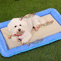 70x50см собака кошка домашнее животное здорово Подушка Pad мягкие шелковые ткани противоскользящие коврик кров