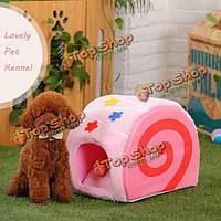 Удобный леденец конуры кошки собаку пирога окрашивает кровать дома домашнего животного пирога
