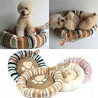 Круглые спальные места для кошек щенка собаки мягкая теплая флисовая подушка конуры корзины циновки подушки дома
