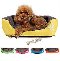 S конура зданий циновки кроватей конур щенка домашнего животного кошки собаку размера теплое мягкое одеяло подушки