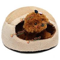 Теплая удобная домашняя кошка собачки собаки питомника дом спальный мешок