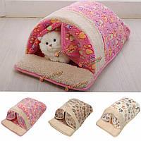 Кота собаки любимчика кровать щенка хлопок Pet гнездо спать теплая подушка площадку хаты корзины питомник диван-кровать