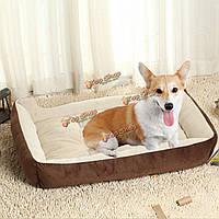 Большой размер большой ПЭТ кровать подушка собака теплое гнездо конура щенок кошки мягкий флис уютный коврик коврик для дома