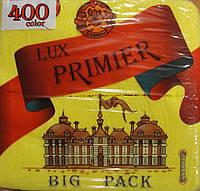 Салфетка бумажная премьер 400л желтая
