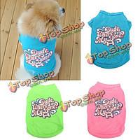 Хлопок питомец собака летом костюм тенниска тельняшки щенок кошка жилет одежды одежды