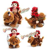 Домашнее животное собака наездник костюм обезьяны рыцаря щенок собаки теплое пальто одежды
