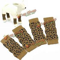 Собаки любимчика хлопок леопардовым узором-вязаные теплые носки лодыжки kneelet