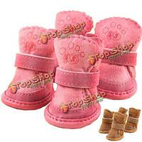 Зимние замшевые ботиночки для собаки