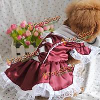 Прекрасная собака щенок платье свадебное платье вечернее платье юбка собачка одежда для собак