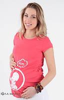 Футболка для беременных Iren (розовая), размер S, фото 1
