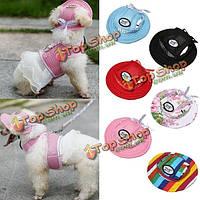 Кота собаки любимчика принцессы сетки ремешок шлема летний щенок холст кап sunbonnet