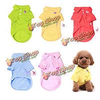 Мульти-цвета чистый хлопок любимчик одежды рубашка поло собаки кошки одежда