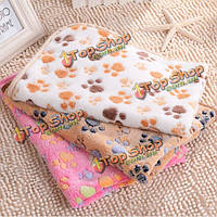 ПЭТ отпечаток лапы собака щенок Cat мягкого флиса одеяло кровать коврик зимний