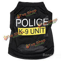 Мода полицейского подразделения к-9 щенков собак футболки питомца летняя одежда одежда костюмы